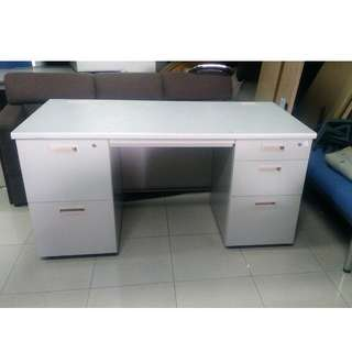 Double Pedestal Desk- Japan's Surplus Office Furniture