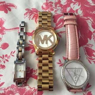 Original MK,  FOSSIL And GUESS