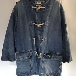 Vintage Valentino Denim Parka Jacket
