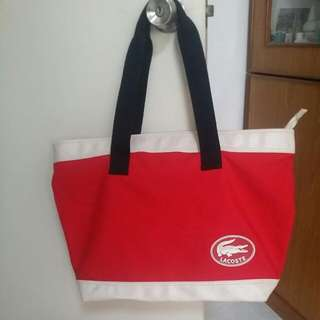 Lacoste Tote Summer Bag Fast Deal $20