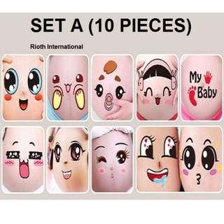 ❤️Pregnancy Belly Sticker (10Pcs/Set) - Free Postage - #UOBPayNow