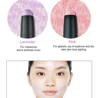 Etude Play 101 Stick Colour Contour Duo Blue Out Red Out Dark Out