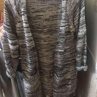 長版針織罩衫