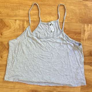 Grey Striped Singlet