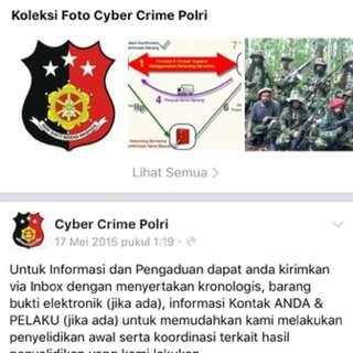 Pengaduan Cyber Crime