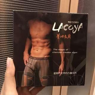 全新Lacoya 竹炭男性三角內褲 黑色 (M/XXL)