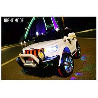 12V 4Motor Powerful Electric Children Car Jeep Wrangler Autoshake