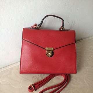 Vincci handbag red color