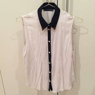 Primark shirt with gold collar detail