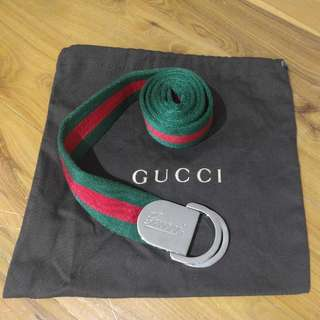 Gucci Webbed D-Ring Belt