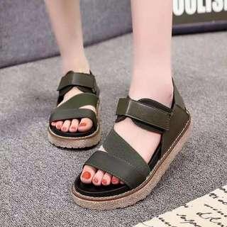 Black Strap On Sandals