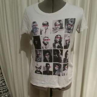 White Tshirt With Celebrity Faces