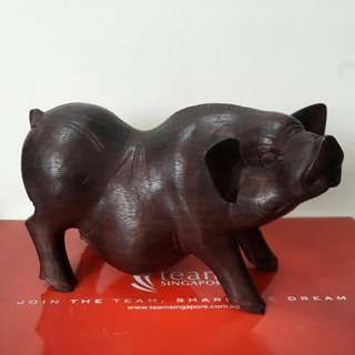 Wooden Sculpture For People who Born in * Pig's Year *