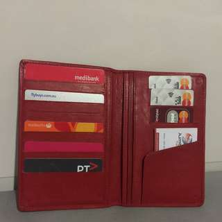 Genuine Leather Red Wallet
