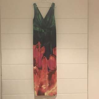 Floral Maxi Dress Size 1X