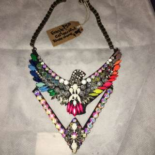 Eagle Colourful Mexican Necklace One Off