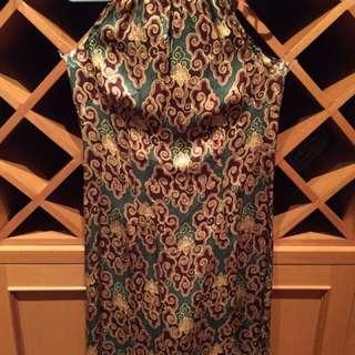 Semi Silk Batik Print Dress