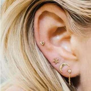 Celestial Ear Studs - 3pcs set