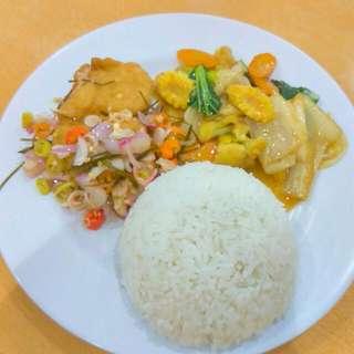 Nasi Ikan Dory Sambal Matah