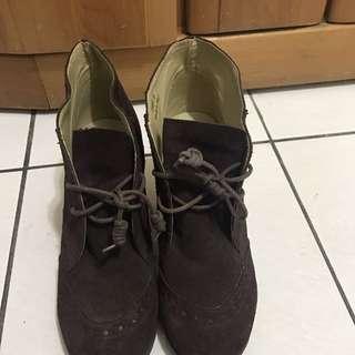 Miss 深咖啡色靴