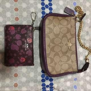 original coach wristlet and coin/key purse