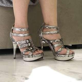 Silver Belt Heels