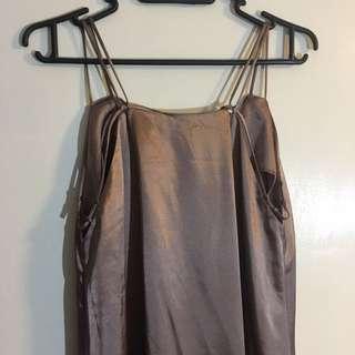 Sz 8-10 Satin Maxi Dress ASOS