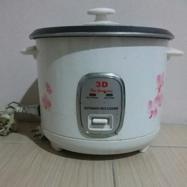 3D Automatic Rice Cooker With Steamer