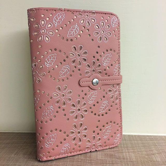粉紅小花多功能卡片包