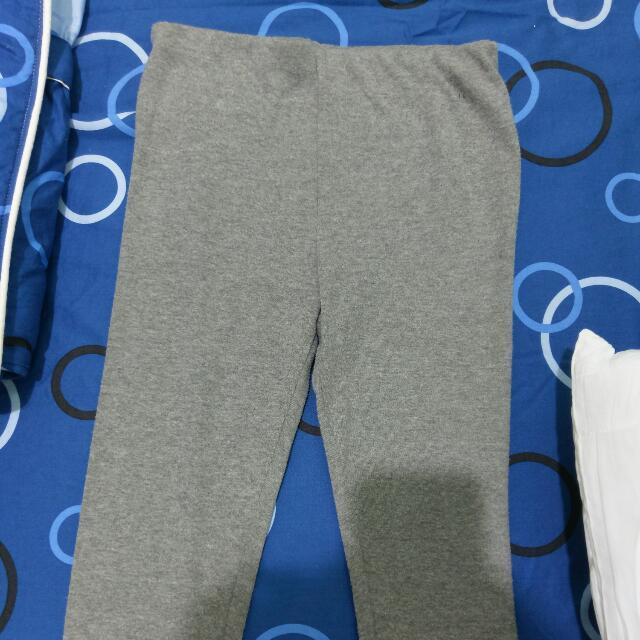 B 鬆緊帶灰色棉內搭褲