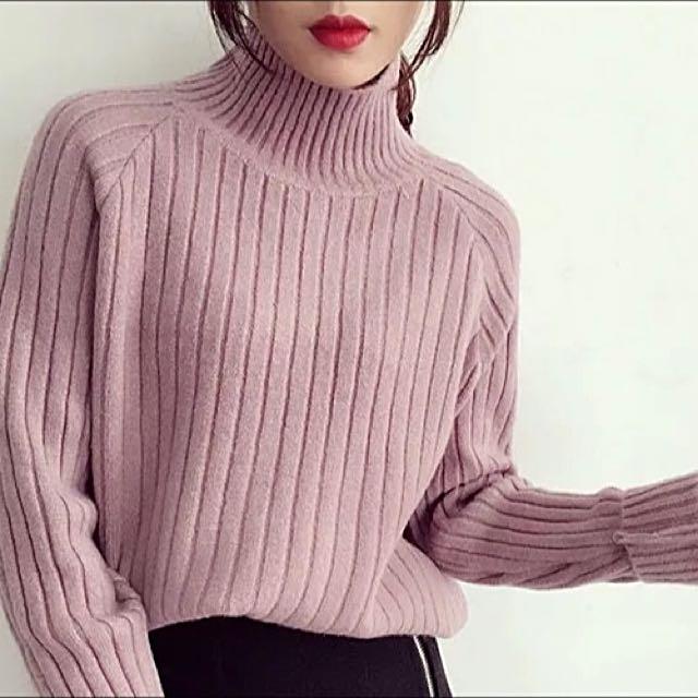 全新純色保暖 簡單厚款短毛衣上衣 選物自留