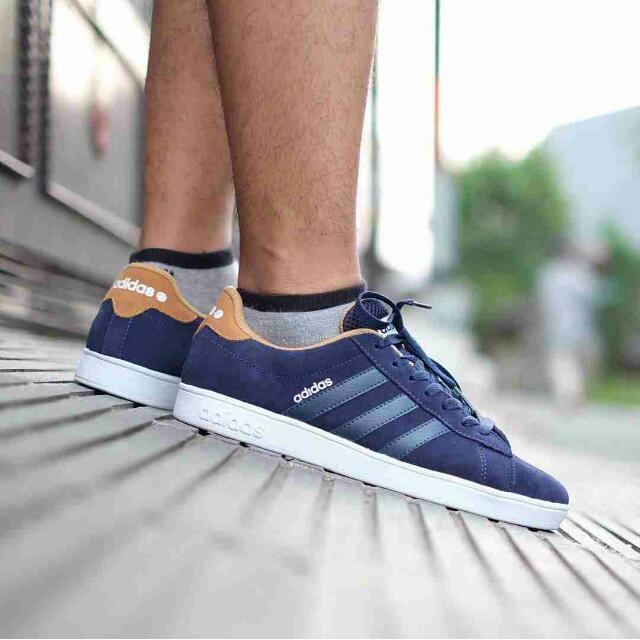 huge discount 26d81 f677b ... best price adidas neo advantec suede navi dark tan original olshop  fashion olshop pria di carousell