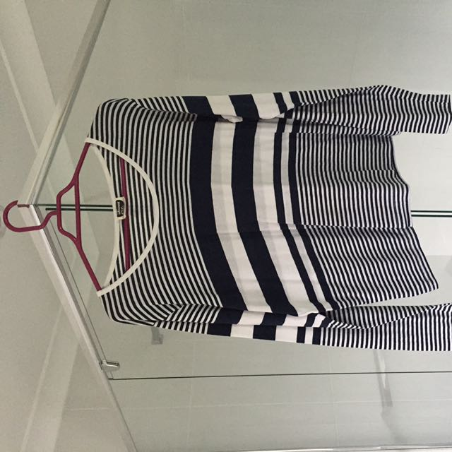 All About Eve Navy Stripe Long sleeve