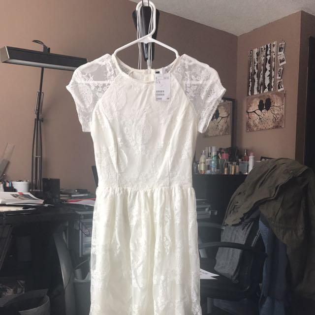 Antique White Lace Dress