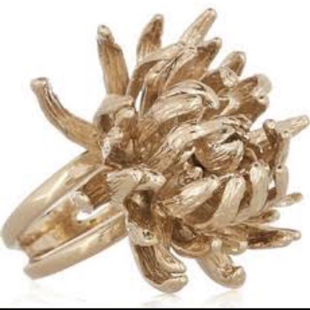 Authentic Alexander McQueen Brass Gold Ring