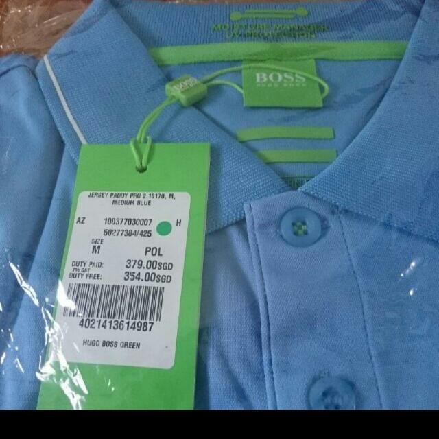0a9d245fa Authentic Brand New Hugo Boss Polo Tee With Moisture Manager And UV  Protection
