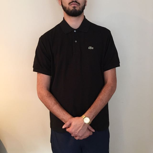 Authentic Lacoste Black Polo