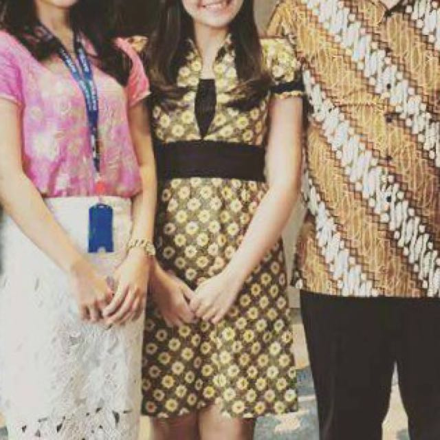 Batik Dress Yellow