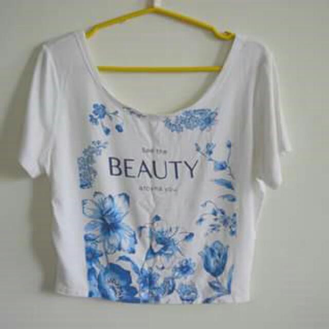 Beauty White Crop Top