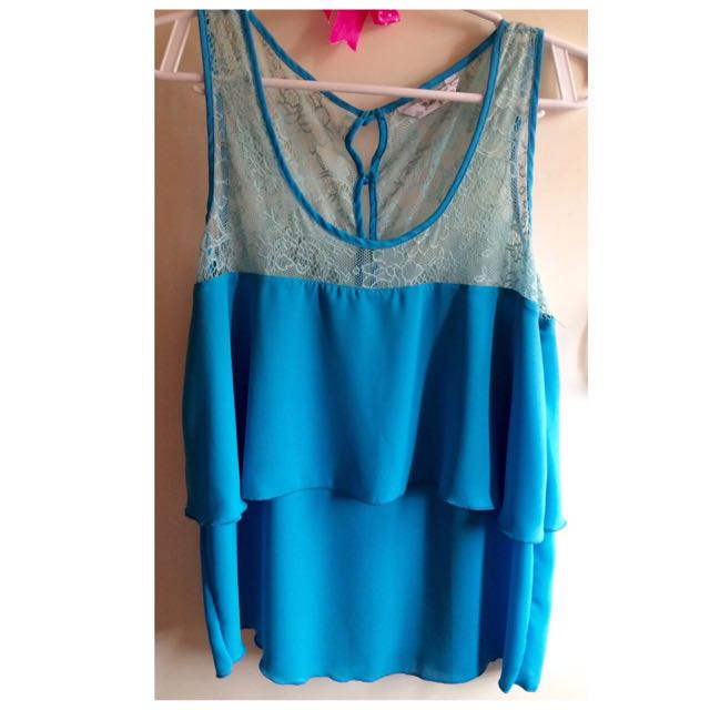 (Betty) Blue Layered Top