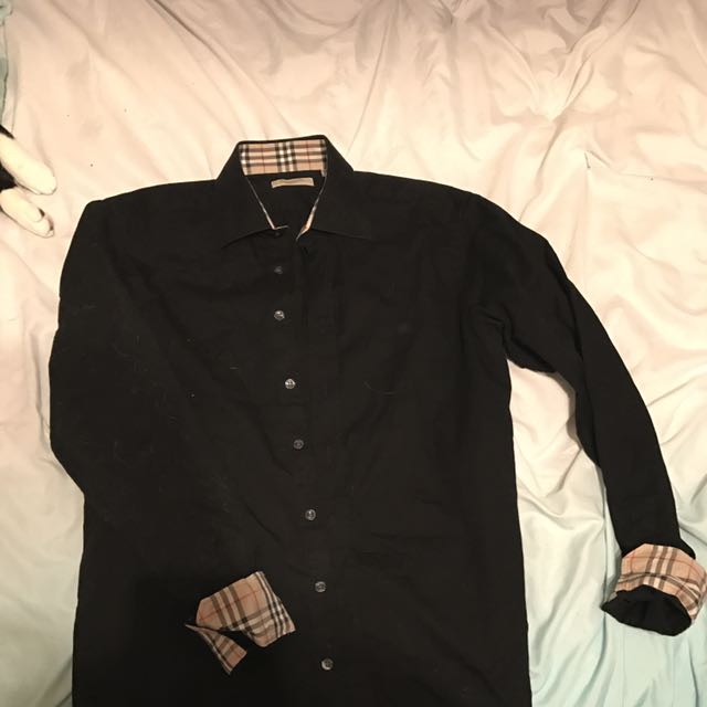 Black Burberry Button-Up