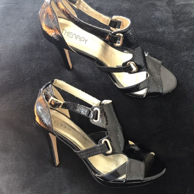 Black Heels Therapy- Size 9