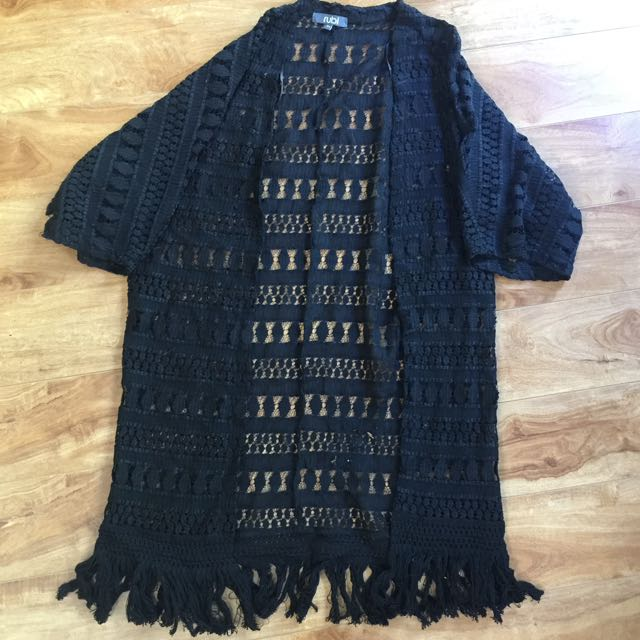 Black Lacey Cardigan