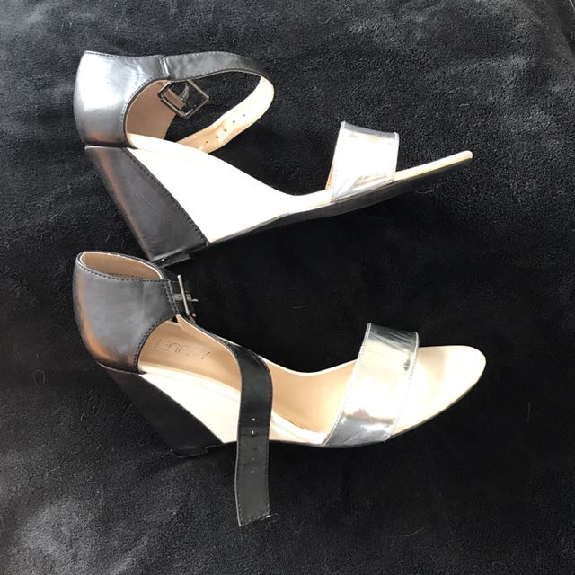 Black, White & Silver Wedges -Therapy
