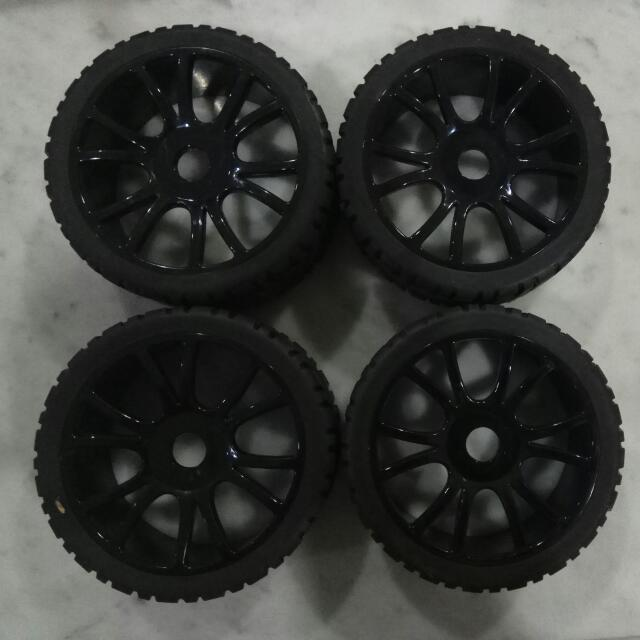 Brand New 1/8 Rc Car On Road Wheel Set (standard 17mm Hub).