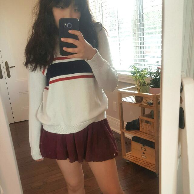 Brandy Melville Maroon Skirt