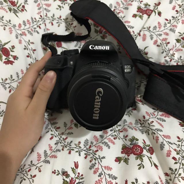 SLR CANON EOS 650 D + LENSA EFS 18-55mm