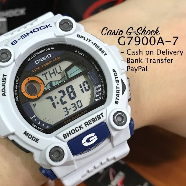 Casio G-Shock G7900A-7 White Digital Watch