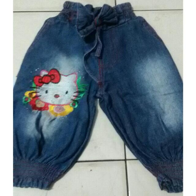 celana jeans hello kitty