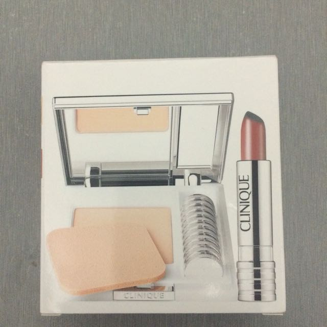Clinique Superpowder Double Face Make-up and Long Last Lipstick Set